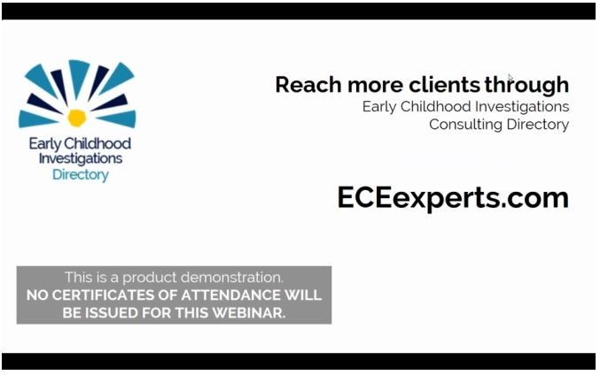 Free Webinars For Consultants Eceexpertscom